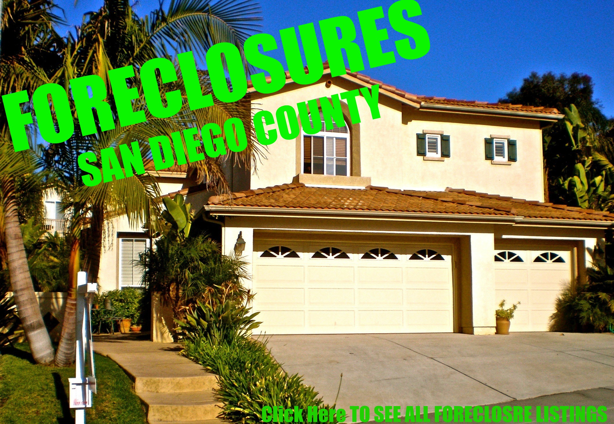 FORECLOSURE LISTINGS IN SAN DIEGO COUNTY