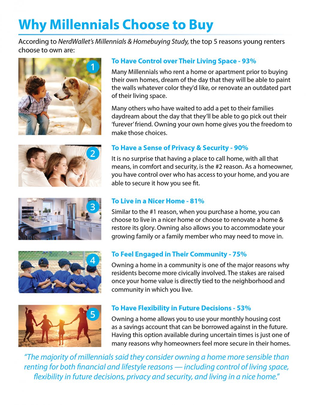 5 Reasons Millennials Choose to Buy a Home [INFOGRAPHIC] | MyKCM