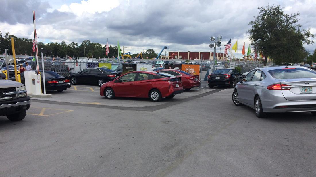 Yellow Green Farmers Market parking lots