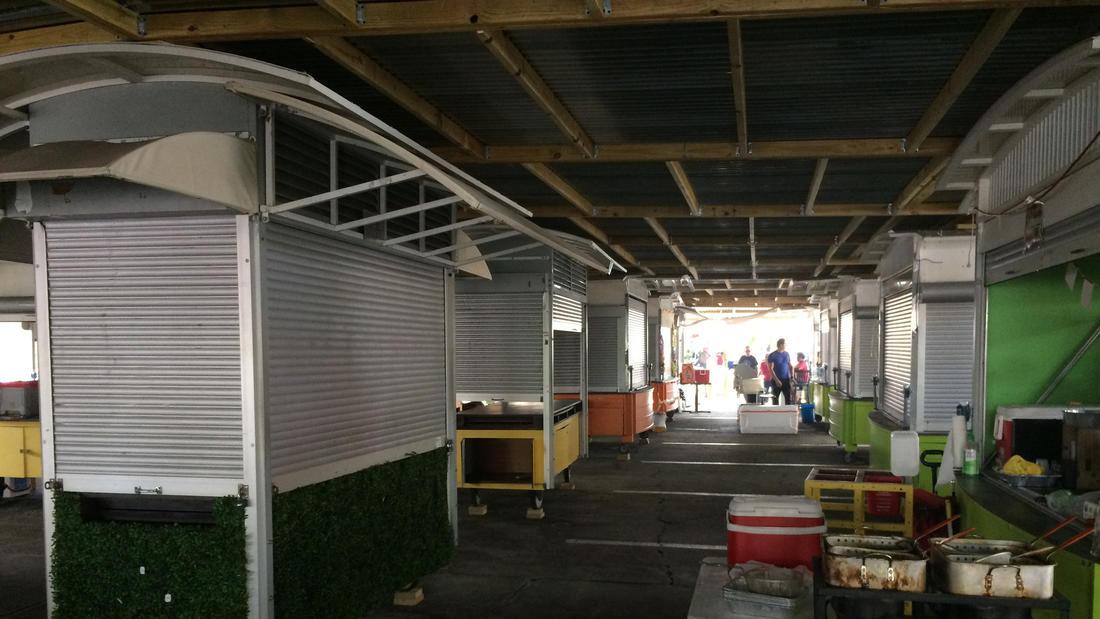 stalls at Yellow Green Farmers Market annex
