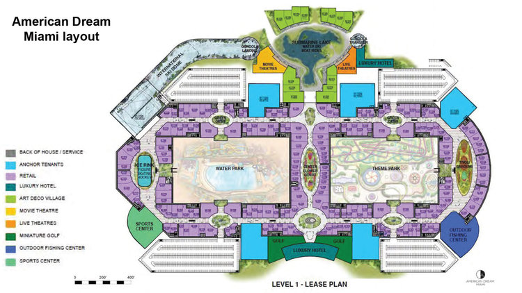sfl american dream miami mega mall unveils floor plan 20160114