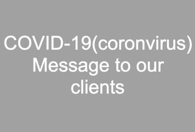 COVID-19(coronvirus) Message to our clients