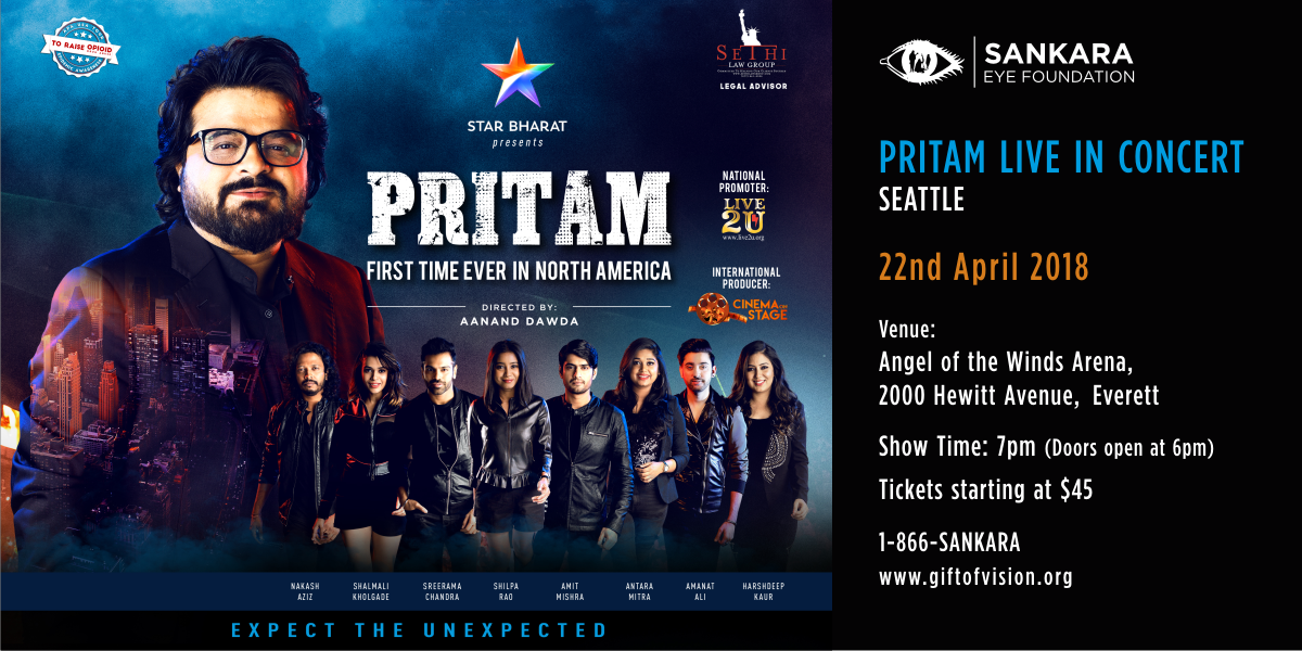 Enter To Win! 5 Tickets worth $555 to 'Pritam Live in