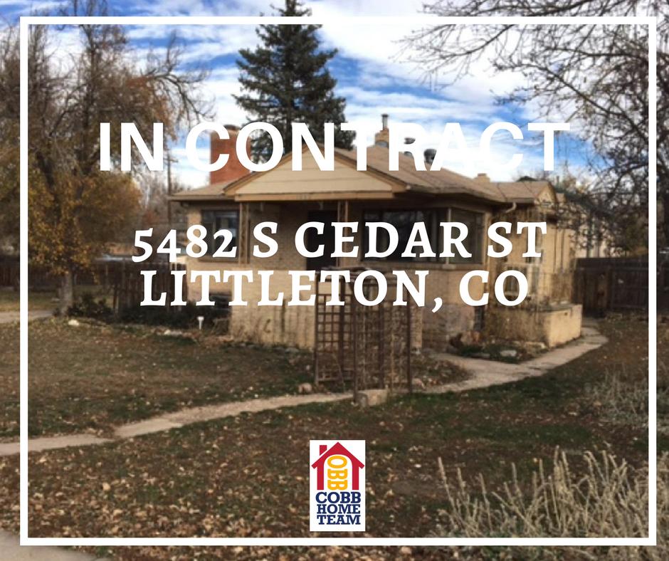 In Contract- 5482 S Cedar Street Littleton CO 80120
