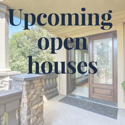 View all upcoming Open Houses