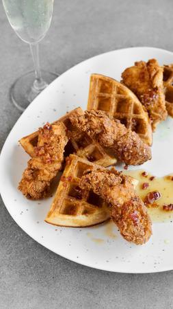 Tanzy Restaurant / Chicken with waffles