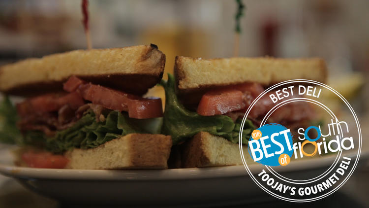 TooJay's Gourmet Deli voted best deli in South Florida - Best of South Florida 2016