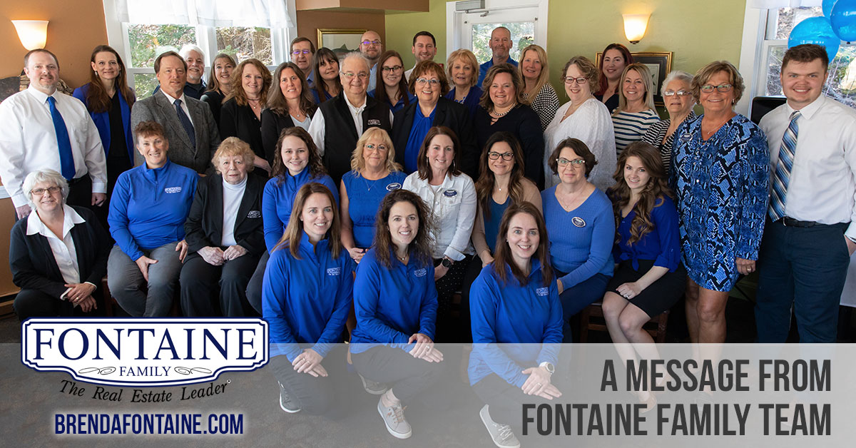 A message regarding COVID-19 from Fontaine Family Team