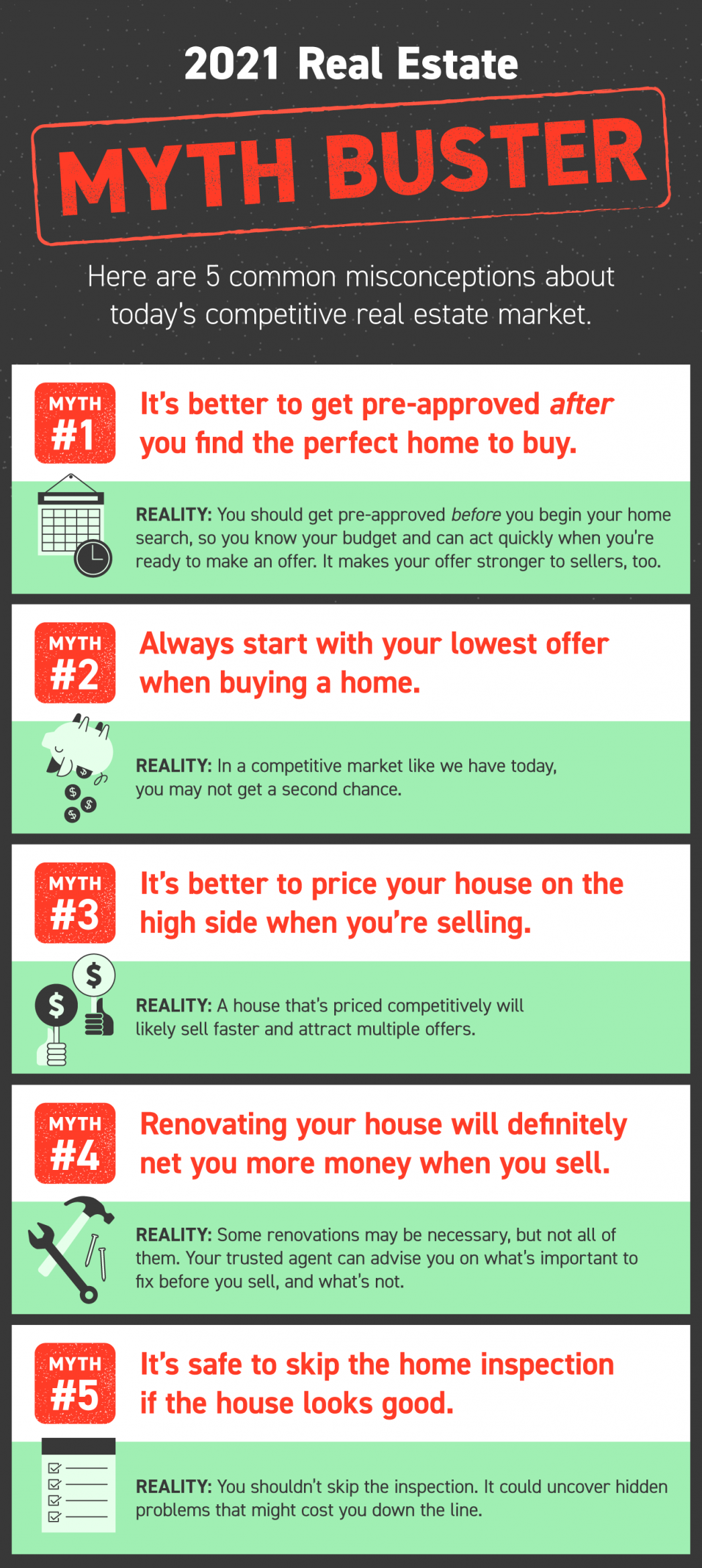 2021 Real Estate Myth Buster   Maine Real Estate Blog   Fontaine Family - The Real Estate Leader   Auburn, Scarborough, Maine
