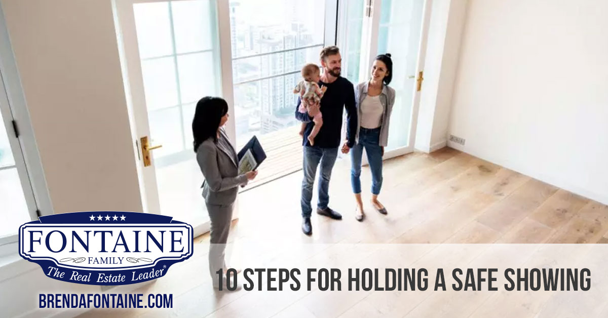 10 Steps for Holding a Safe Showing | Buy or Sell Real Estate in Maine | Fontaine Family - The Real Estate Leader | Auburn, Scarborough, Maine