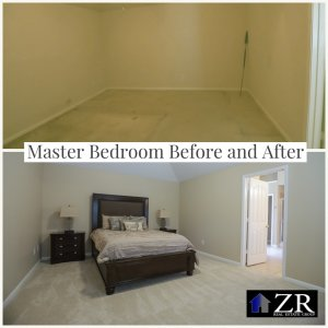 From OLD to SOLD Master Bedroom