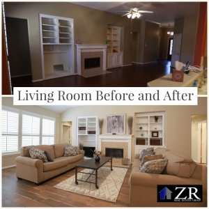 From OLD to SOLD Living Room