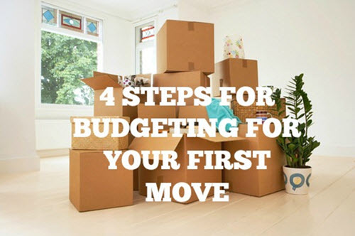 Four steps for budgeting for your first move