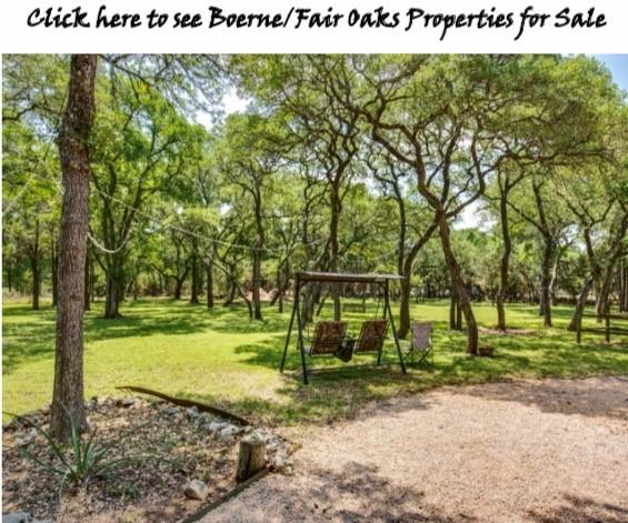Boerne/Fair Oaks Ranch Properties for Sales