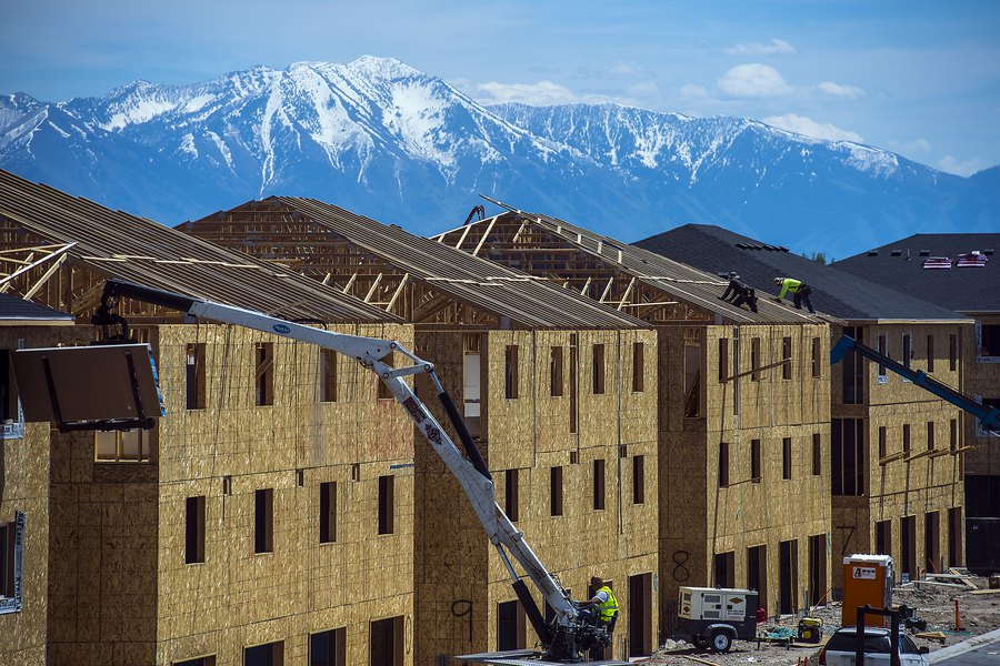 Example of construction of high-density housing construction in Vineyard, UT