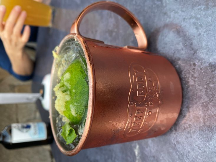 Moscow Mule at Tap & Vine, Old Auburn CA