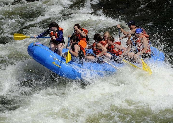 American river white water rafting