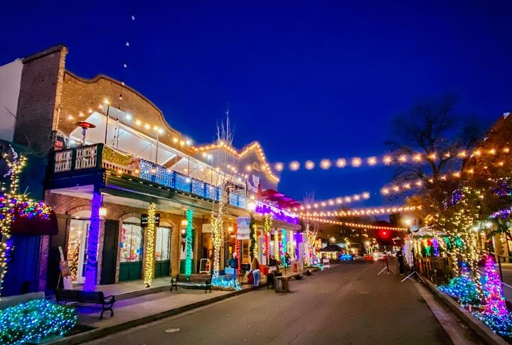 Christmas Lights at Sutter Street, Folsom, CA