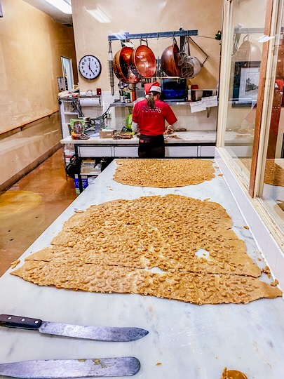 Peanut Brittle at Snooks Chocolate factory