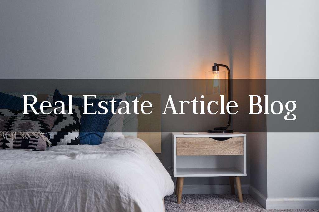 Real Estate Article Blog