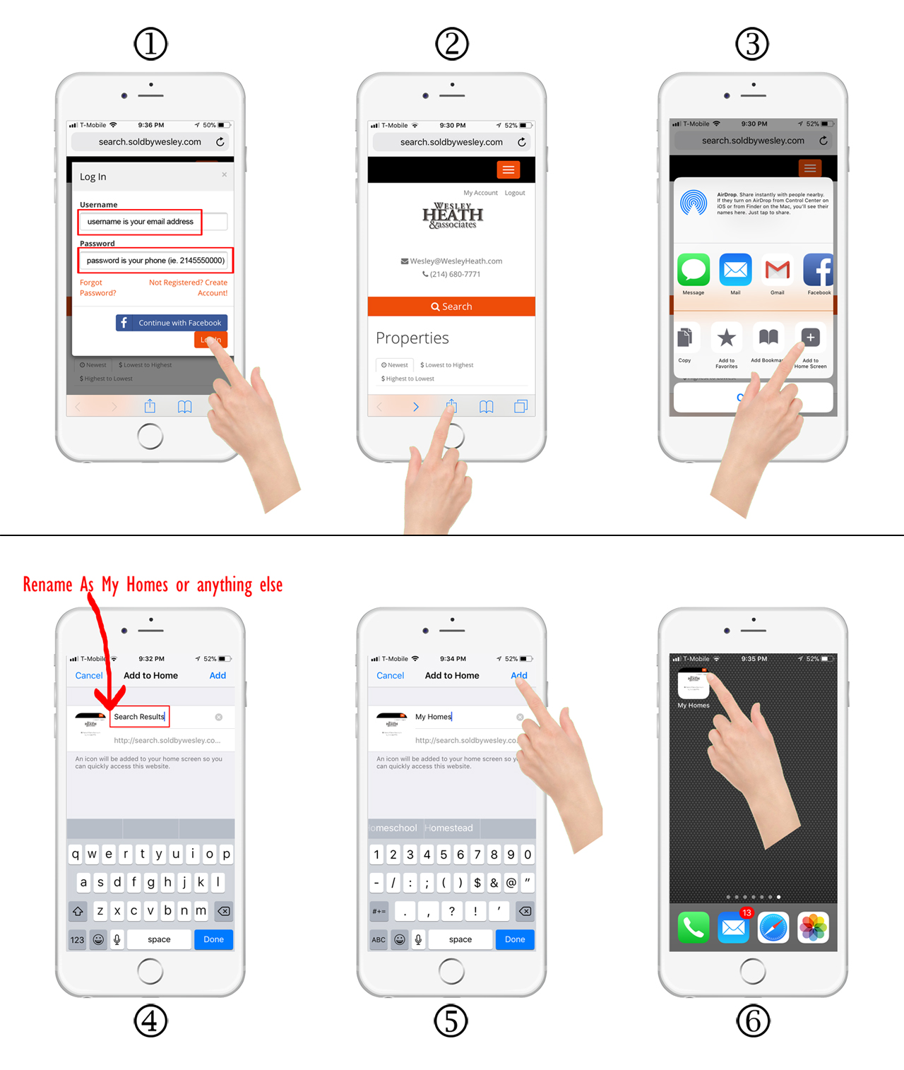Saved Search as iPhone App Button