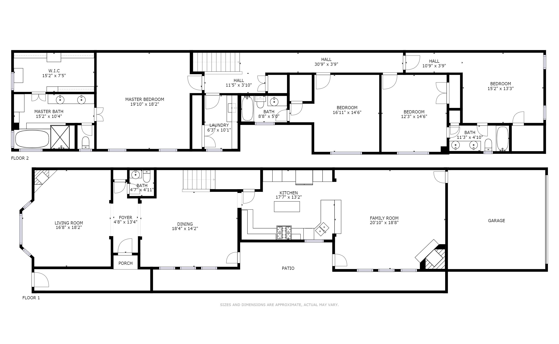 Floor Plan for 3445 Normandy Avenue, Dallas TX 75205