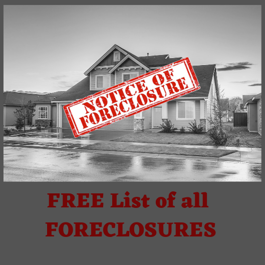 FREE list of all FORECLOSURES