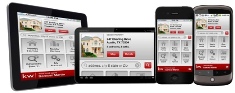 image of Keller Williams mobile home search application