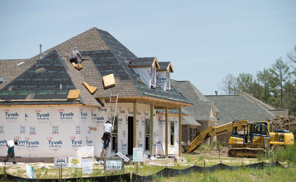 A new home under construction in St. Tammany Parish in 2017. The parish on Tuesday (July 3) said single-family and commercial construction permits rose in 2017 and have continued climbing this year.